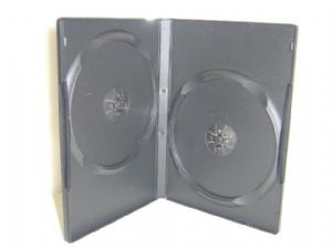 100 Standard Double Black DVD Case